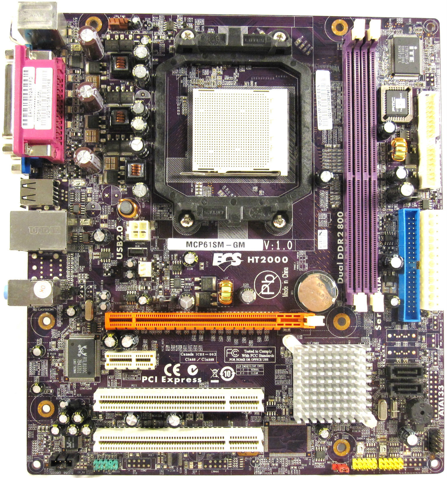 Gateway eMachines ECS MCP61SM-GM Motherboard 4006233R