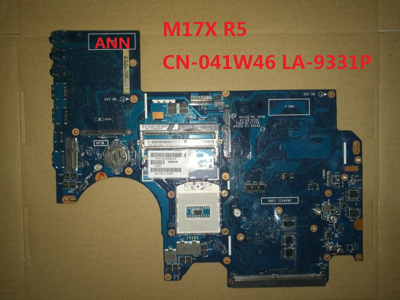 CN-041W46 41W46 For Dell M17X R5 mainboard VAS00 LA-9331P