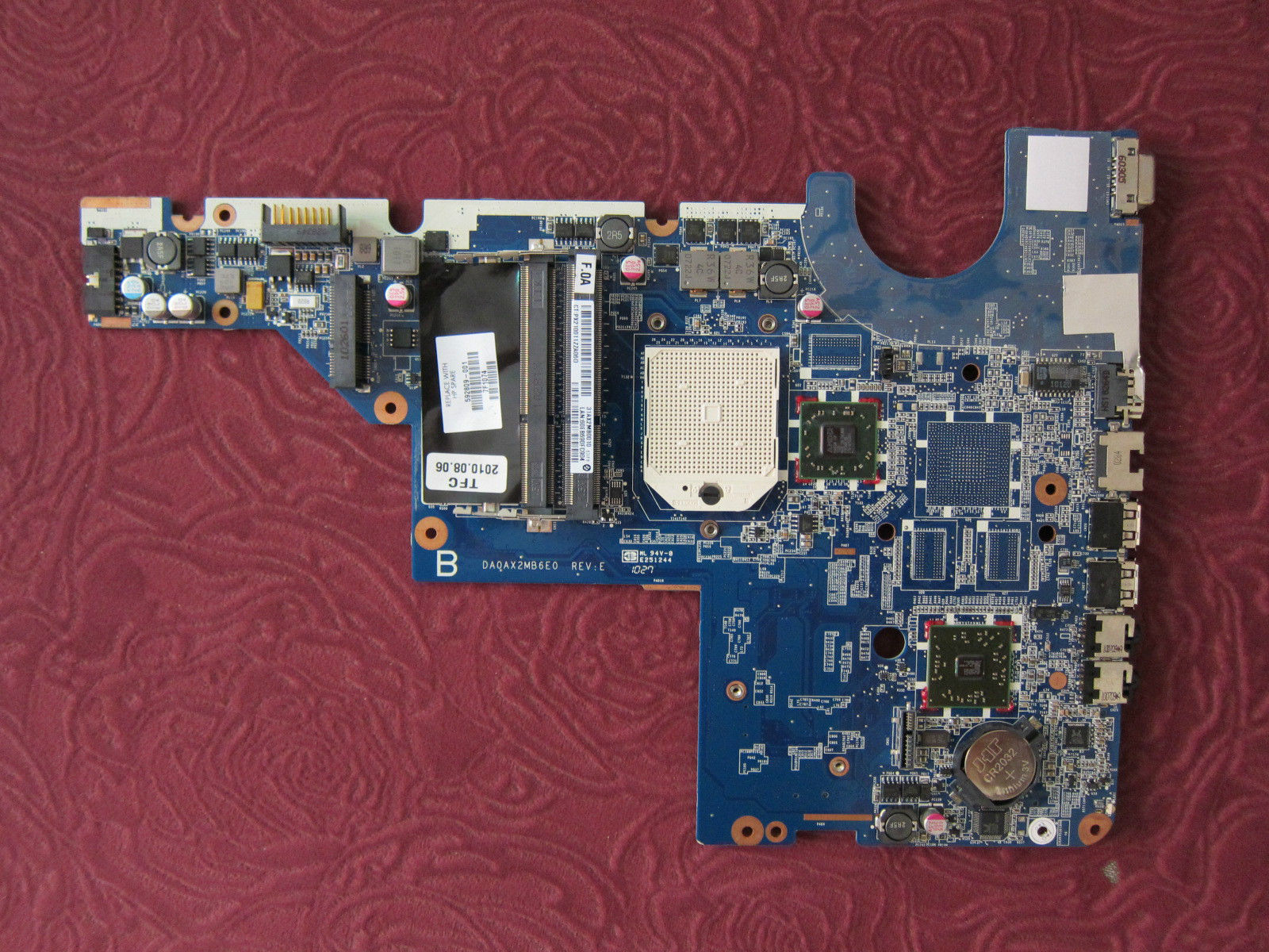 HP laptop motherboard CQ42 G42 CQ62 G62 592809-001 AMD