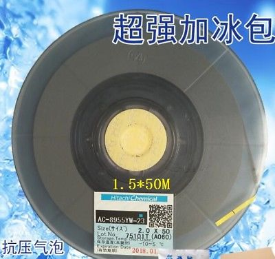 New Date Original For Hitachi ACF AC-8955YW-23 Conductive Tape COG Use 1.5MM*50M