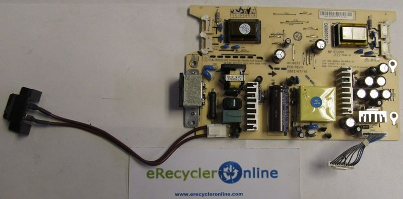 "Sony Power Supply Board AI-0031 for a SDM-X93 19"" Inch LCD Compu"