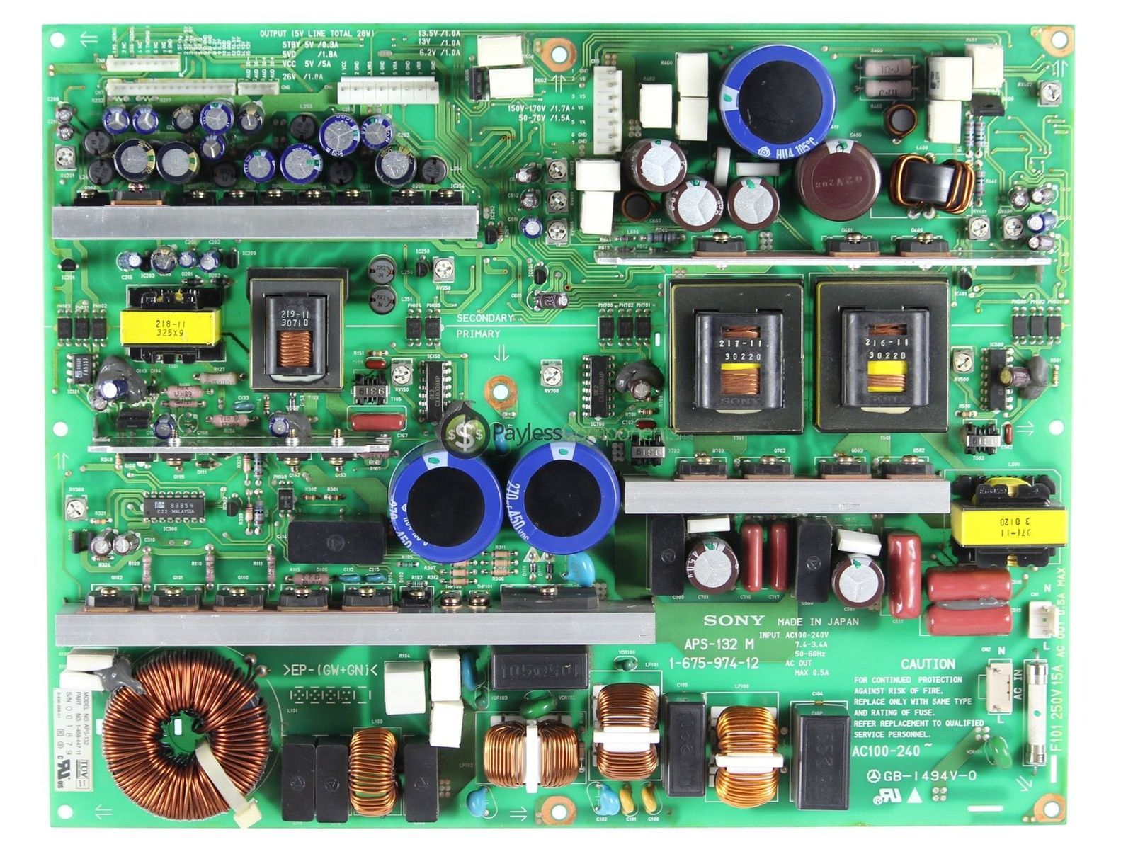 Sony 1-468-447-11 Power Supply Board APS-132 M PFM-42B1 PFM-510