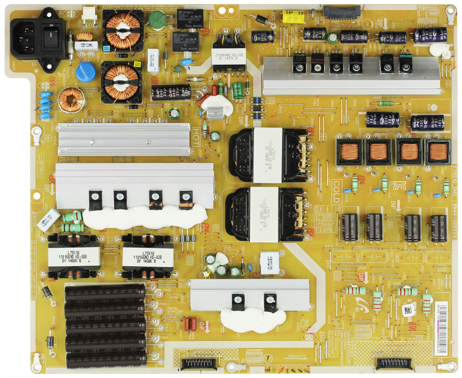 Samsung BN44-00655A Power Supply LED Board tested