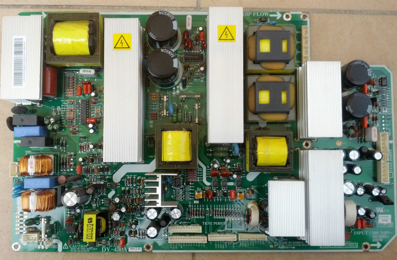 SAMSUNG PS42D5 POWER SUPPLY BOARD BN96-01923A DY-450A