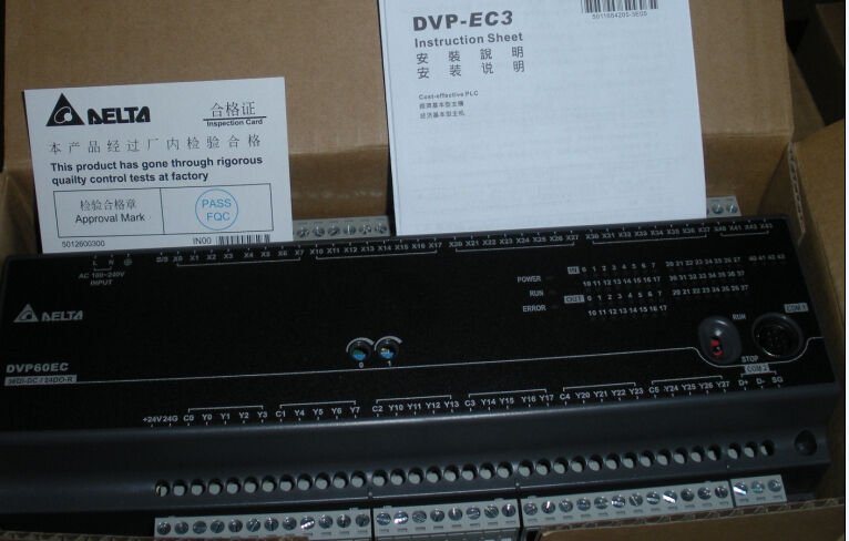 DVP60EC00R3 Delta EC3 Series Standard PLC DI 36 DO 24 Relay 100-240VAC new