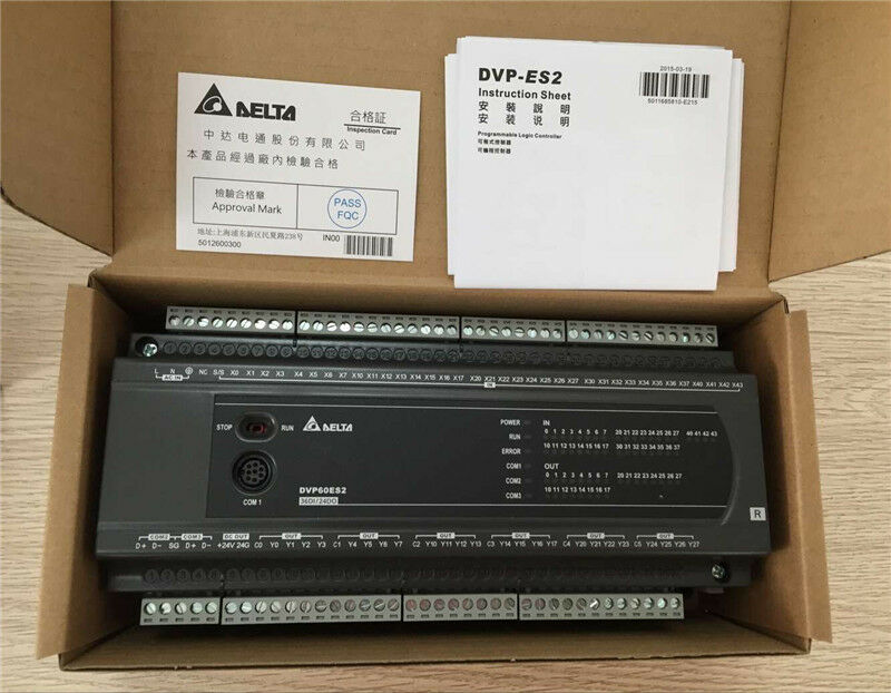 DVP60ES200R Delta ES2 Series Standard PLC DI 36 DO 24 Relay new in box