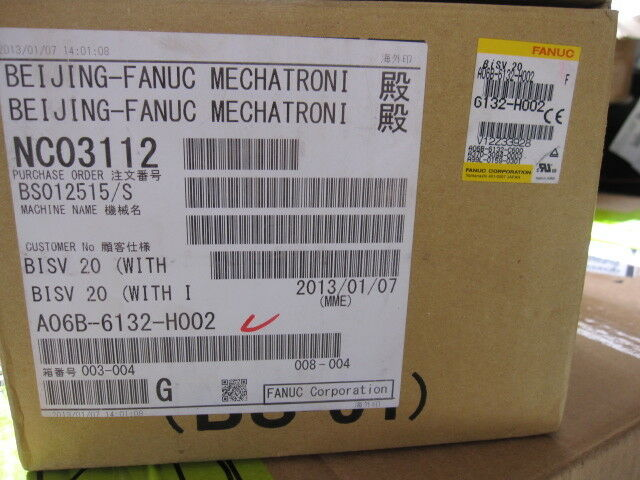 NEW ORIGINAL 1PC FANUC SERVO AMPLIFIER A06B-6132-H002 EXPEDITED SHIPPING