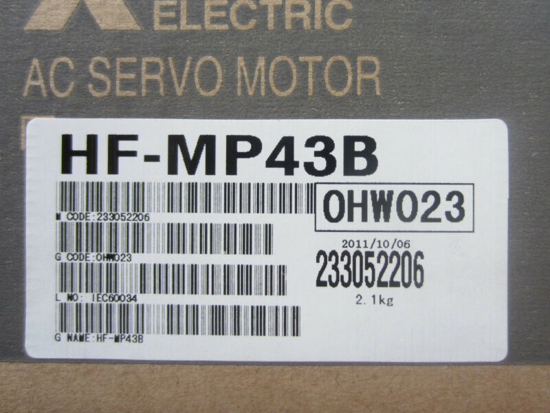 1PC MITSUBISHI AC SERVO MOTOR HF-MP43B NEW ORIGINAL EXPEDITED SHIPPING