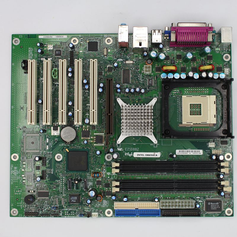 Intel D865GCA 775 industrial motherboard fully integrated 5 PCI