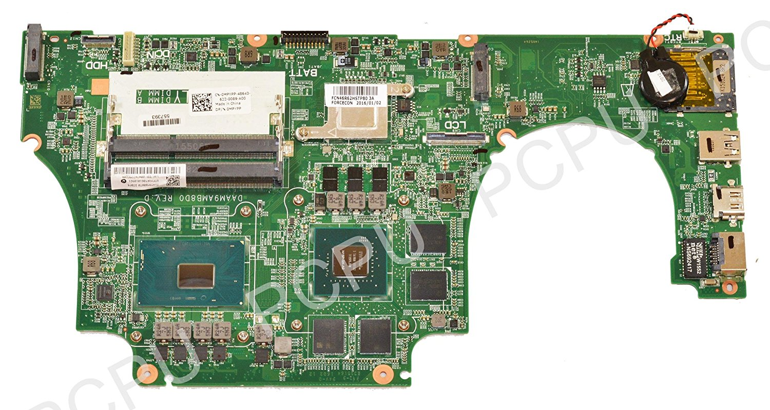 New MPYPP Dell Inspiron 7559 Laptop Motherboard w/ Intel i7-6700HQ 2.6Ghz CPU, DAAM9AMB8D0