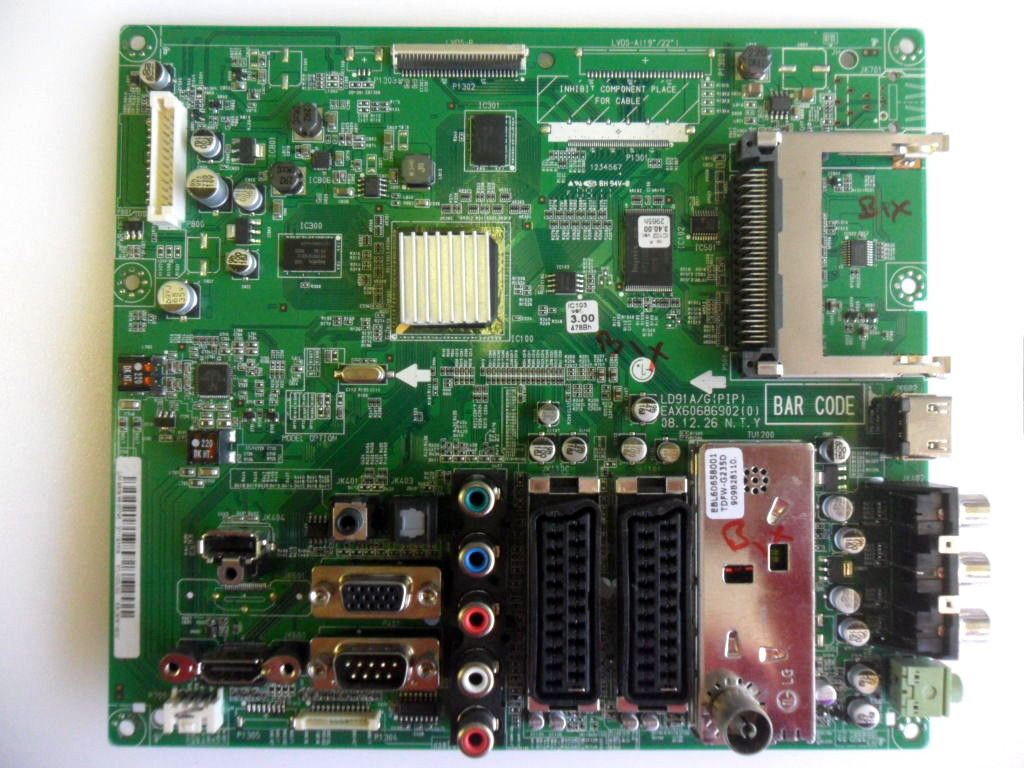 "MAIN BOARD FOR LG 42LF2500 42"" LCD TV EBU60710826 EAX60686902 (0"