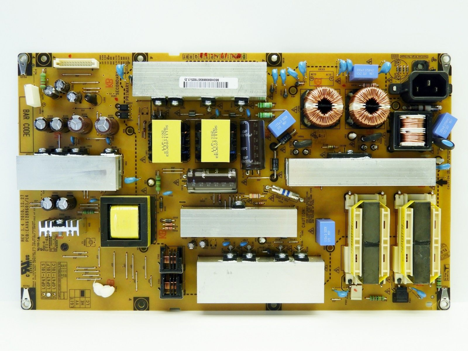 LG POWER SUPPLY BOARD EAX61289601/12 REV1.2 LGP47-10LF