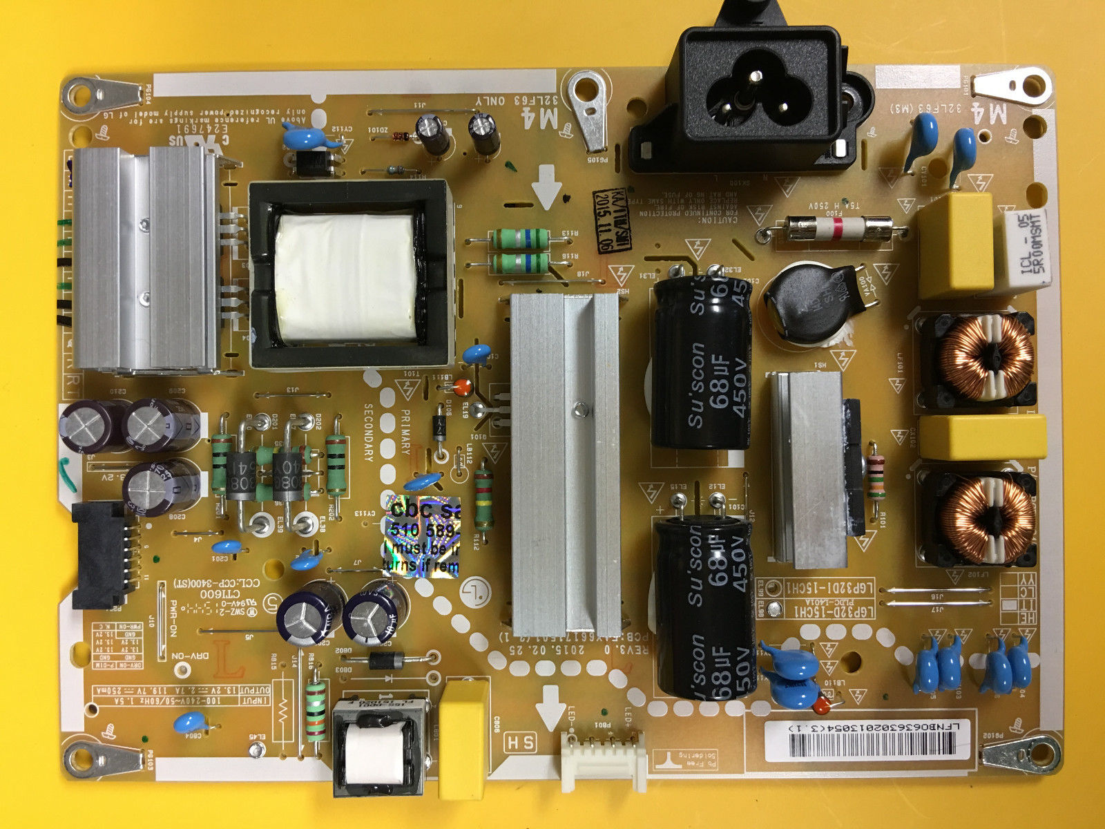 LG 32LF5600-UB TV LGP32D-15CH1 EAX66171501(2.1) POWER SUPPLY BOARD
