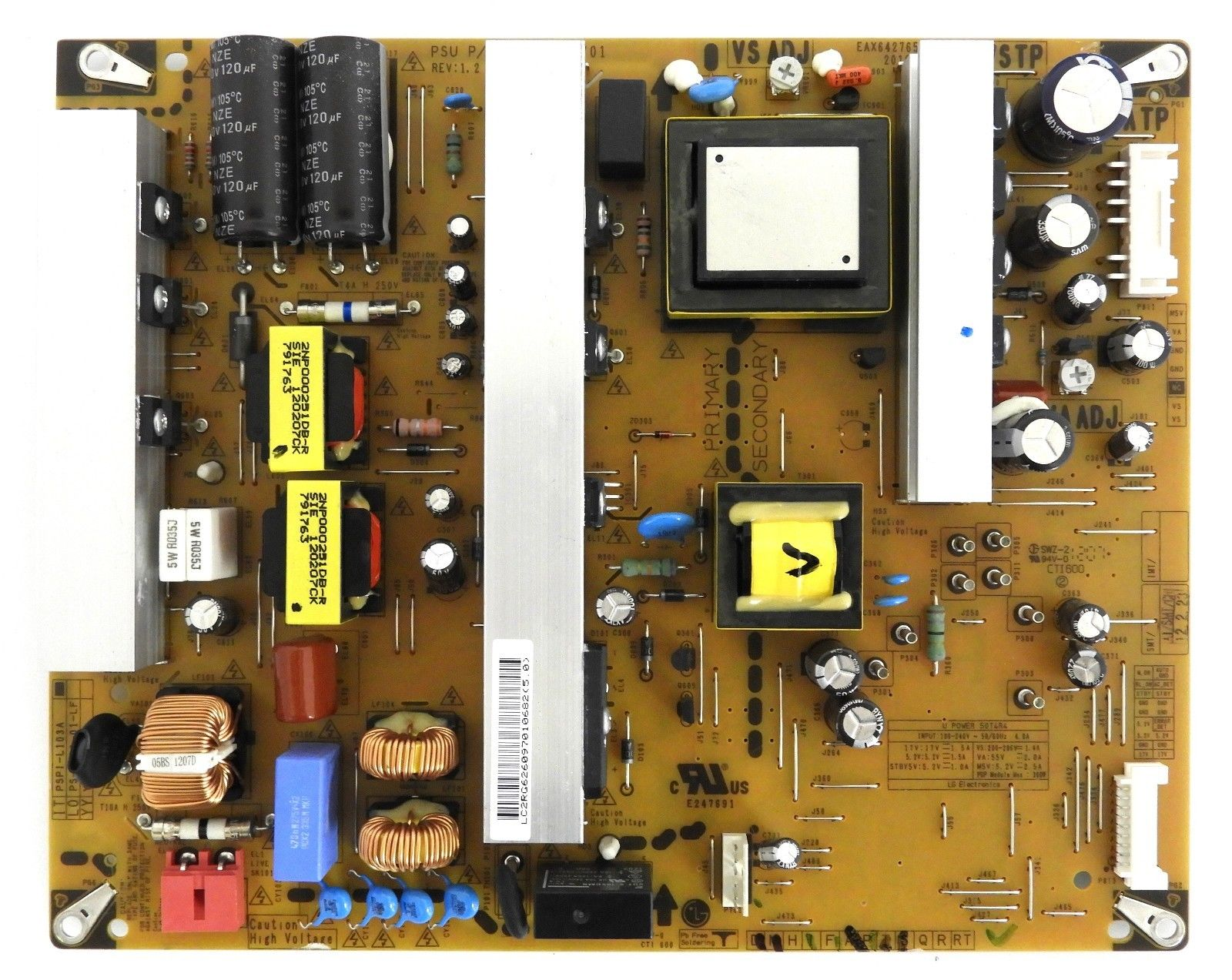 LG 50PA4500-UF POWER SUPPLY BOARD EAY62609701 (3PAGC10073A-R, PS