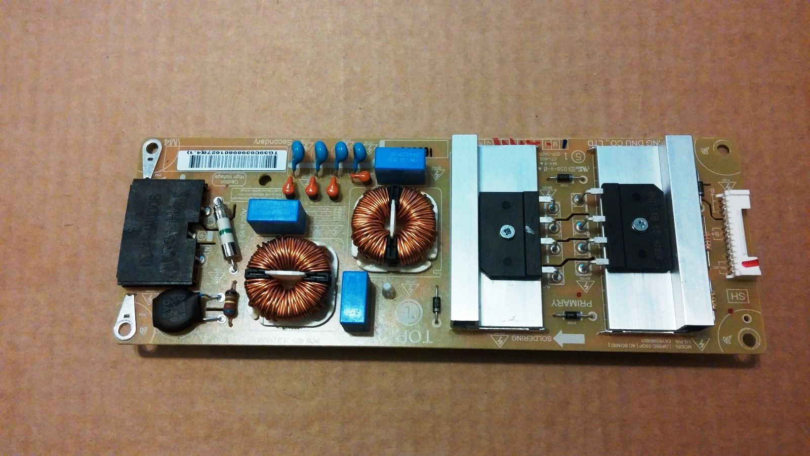 SUB POWER SUPPLY BOARD FOR LG55EG910V-ZB EAY63989801 tested