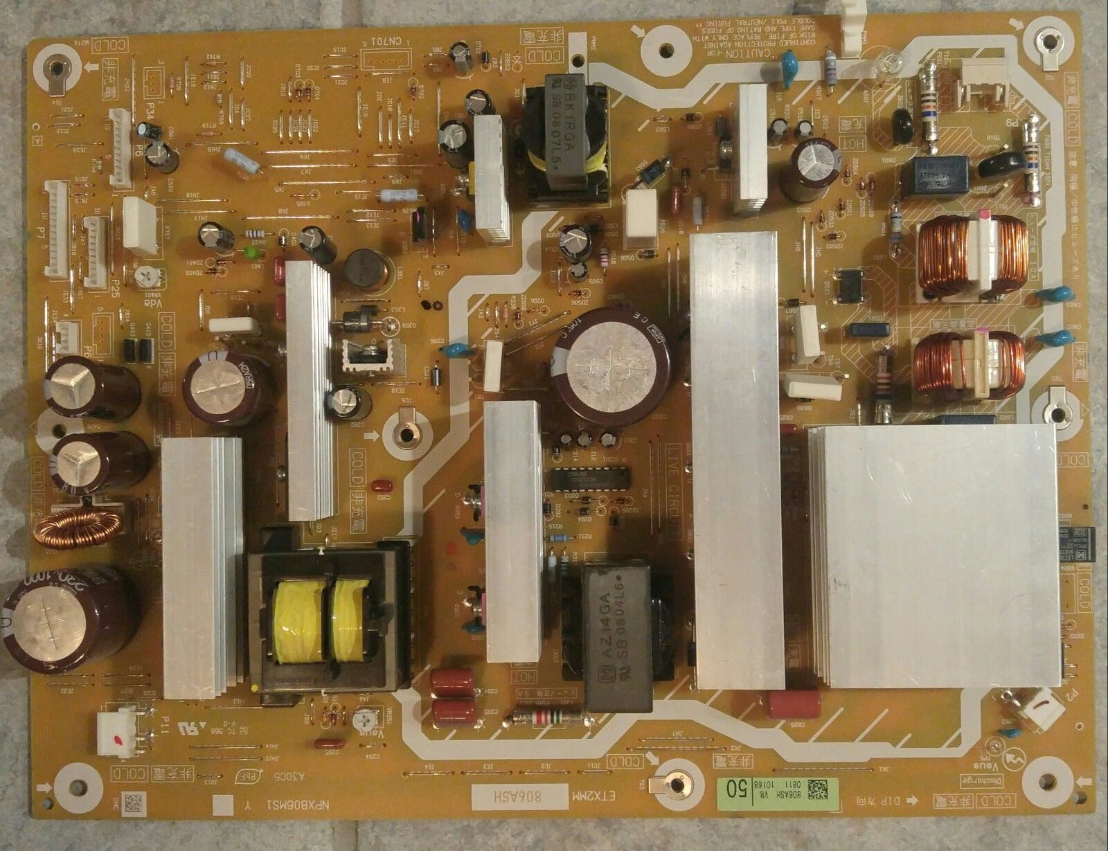 NEW PANASONIC TCP50G25 TV POWER SUPPLY BOARD ETX2MM806ASH NPX806MS1Y