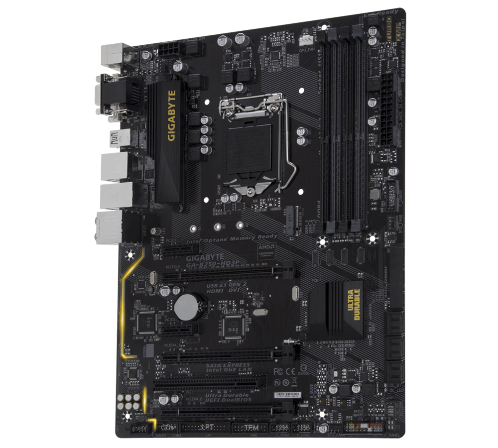 Gigabyte GA-B250-HD3P Intel Skylake Kabylake Motherboard tested