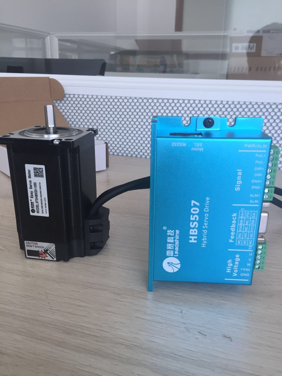 New Leadshine Closed Loop servo Drive HBS507+3-phase servo motor