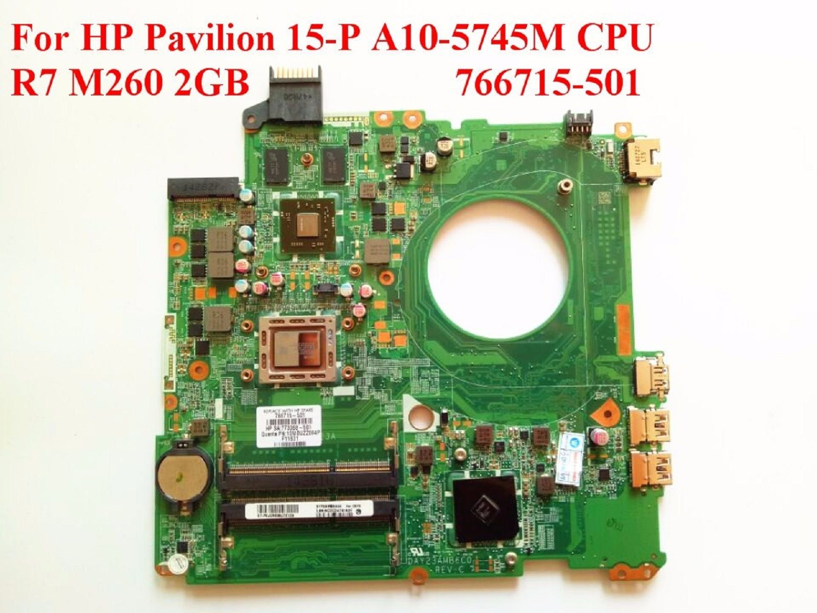 For HP 15-P 766472-001 Laptop Motherboard i7-4510u 840M 2GB DDR3