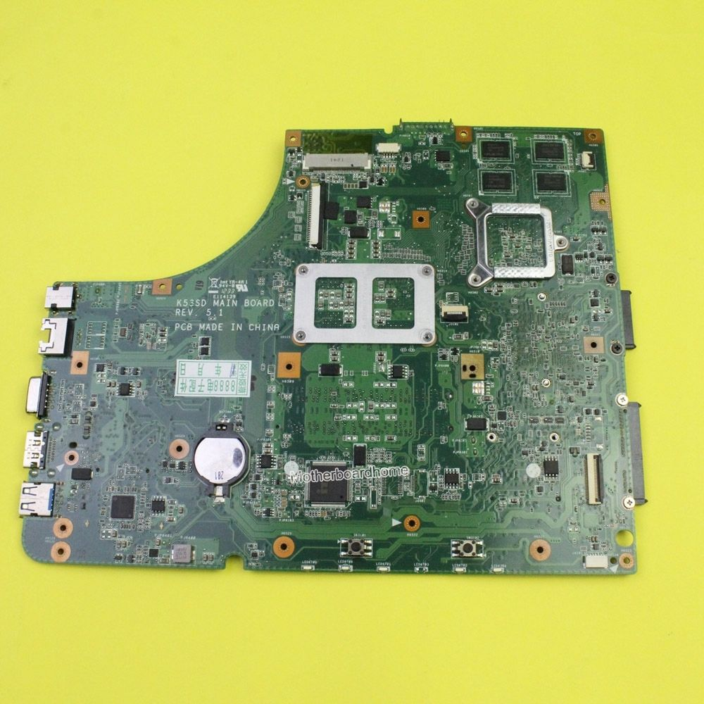 Asus K53SD X53S A53S laptop motherboard 60-N3EMB1300-025 REV 5.1