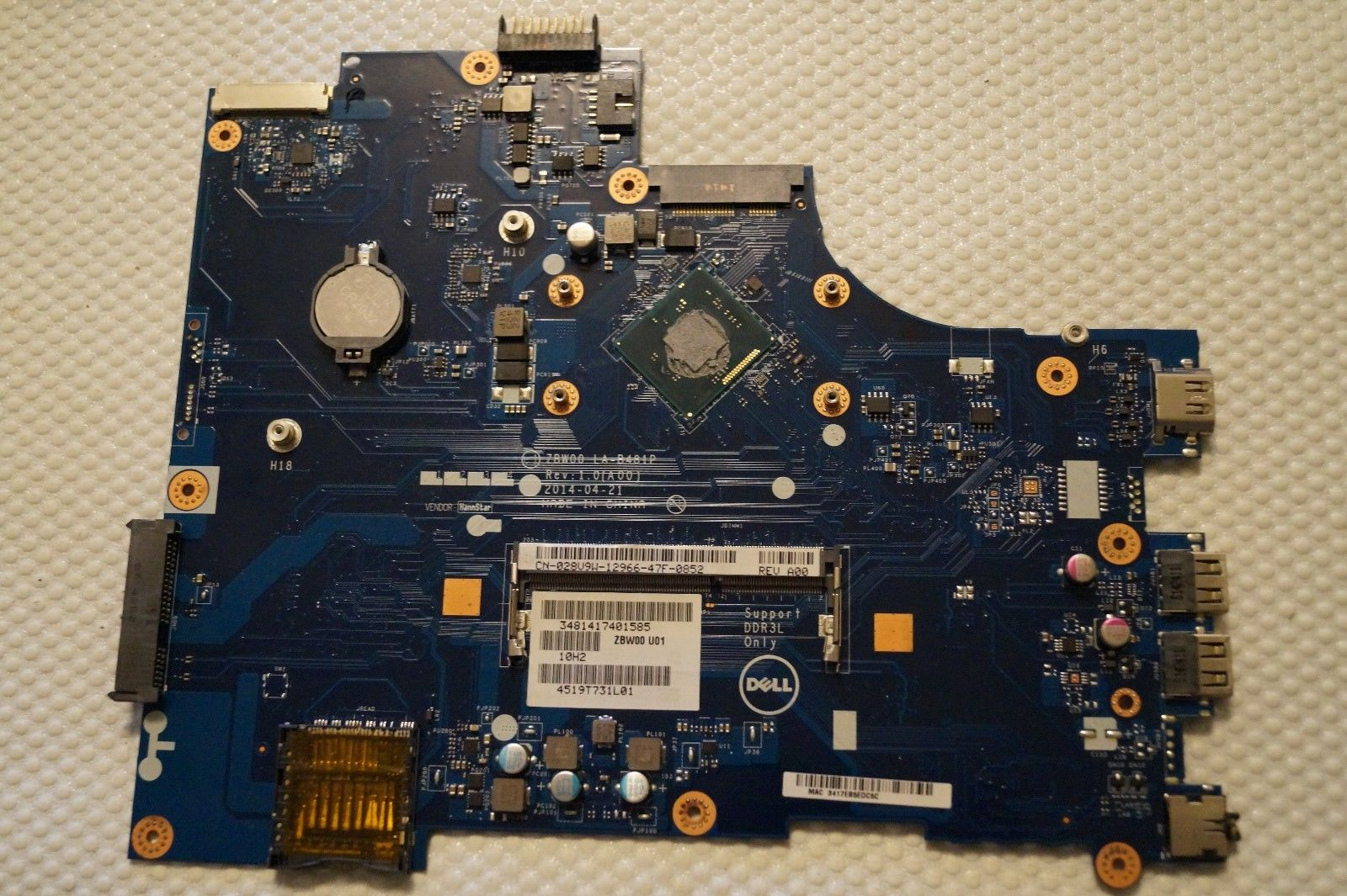 CN-0Y3PXH Y3PXH 0Y3PXH laptop motherboard Dell Inspiron 15-3531