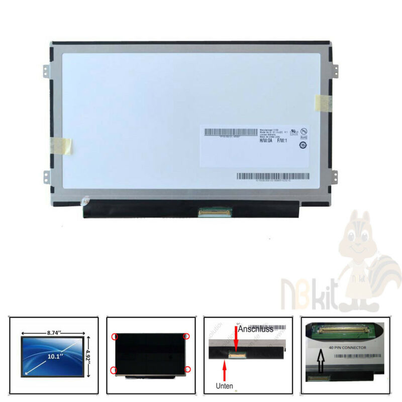 "10.1""LED LCD Screen for Lenovo IdeaPad S100 S110 N570 N2800 notebook 1024x600"