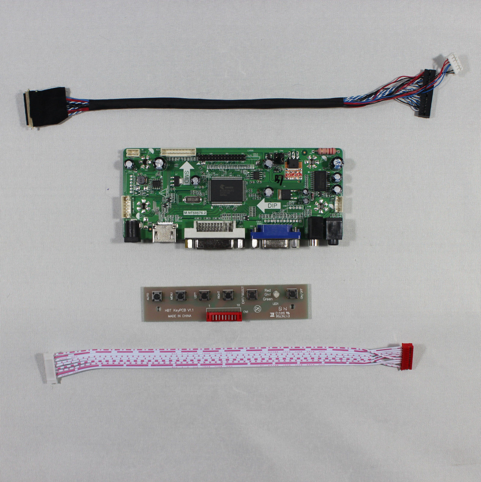 M.NT68676.2A HDMI+DVI+VGA+AUDIO LCD Controller Board Kit