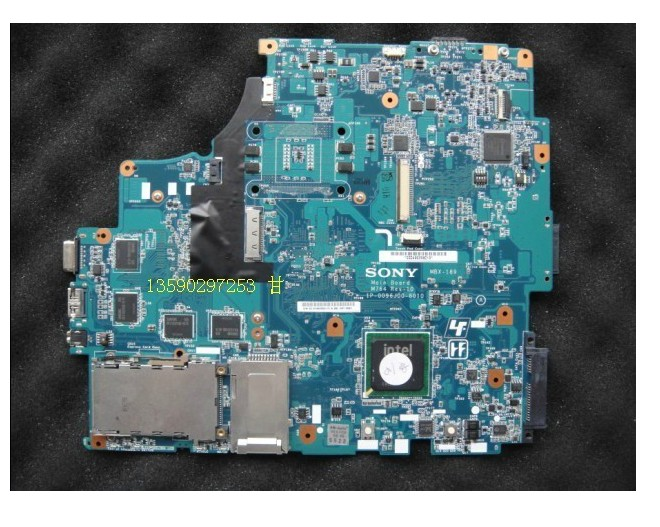 1P-0084J00-8011 For Sony MBX-189 M760 REV:1.1 Intel Laptop Motherboard