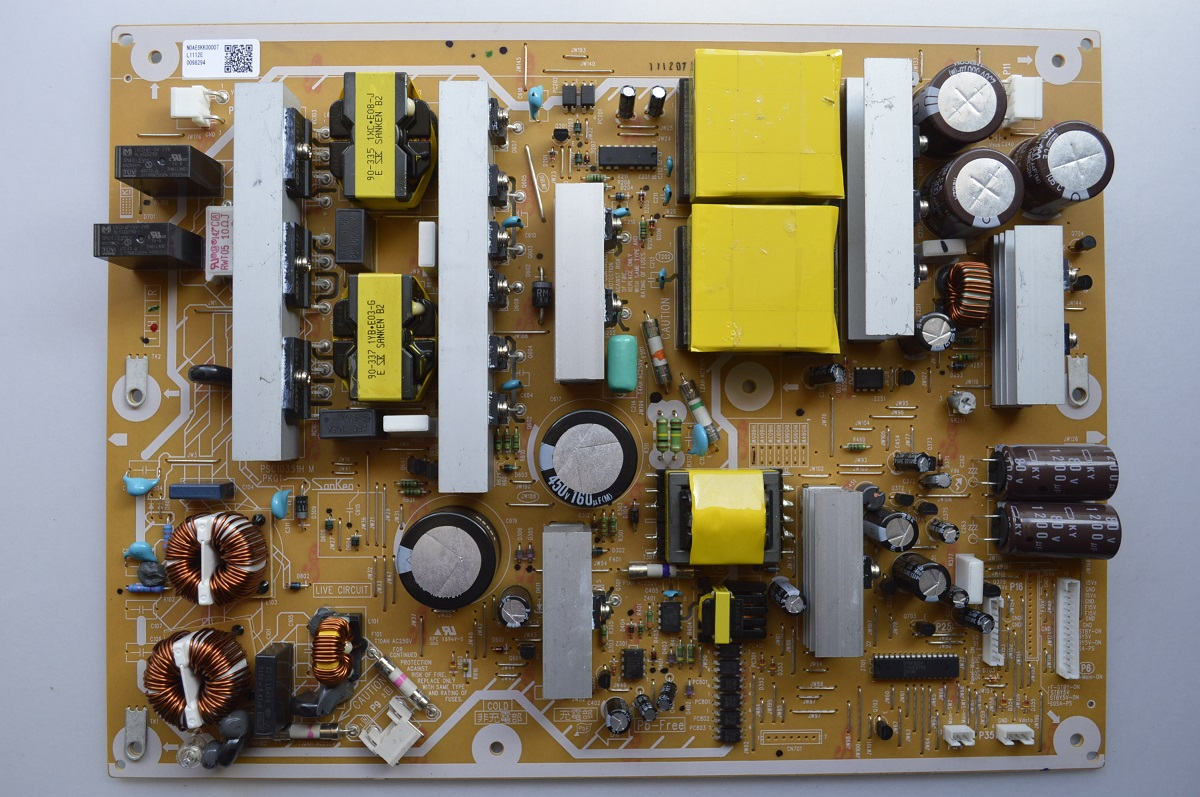 New PANASONIC N0AE6KK00007 POWER SUPPLY BOARD FOR TC-P55ST30 AND