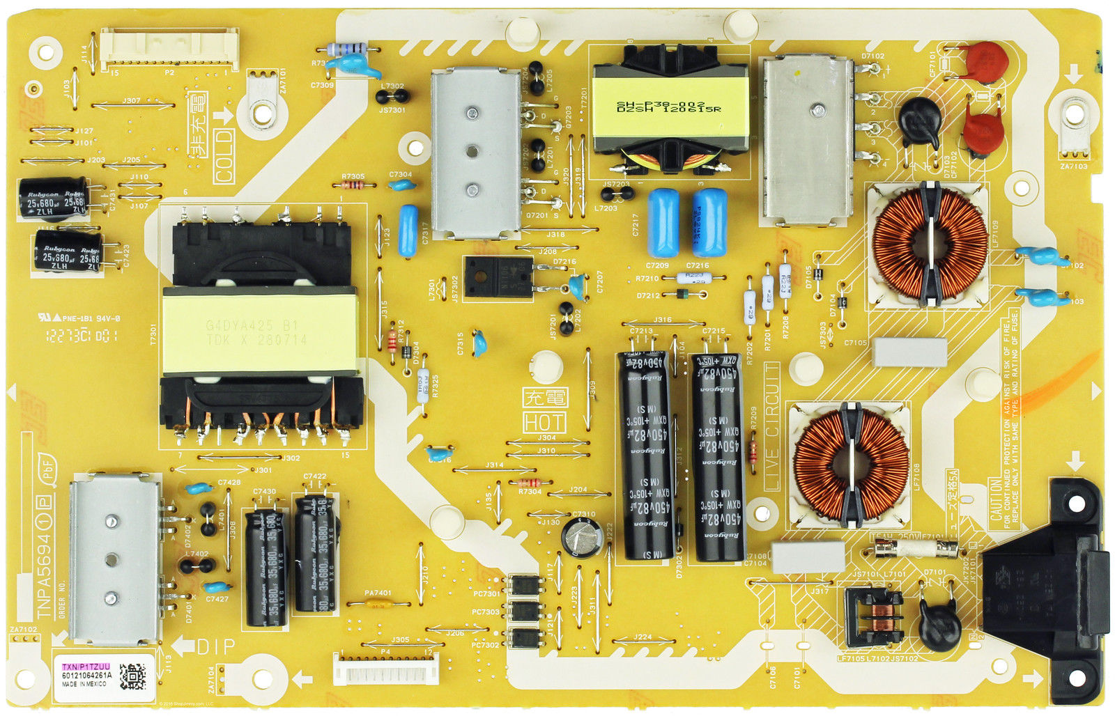 Panasonic TXN/P1TZUU (TNPA5694) Power Supply P Board