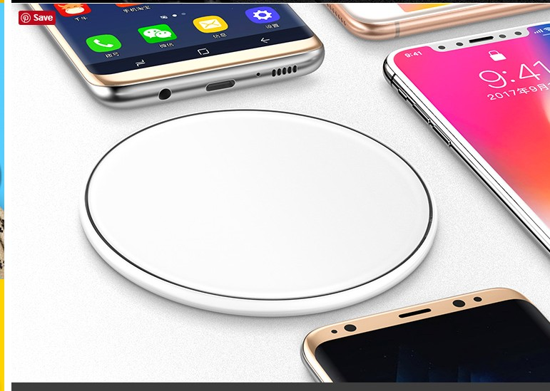 Wireless Charger Charging Pad for iPhone 8 / 8 Plus iPhone Qi