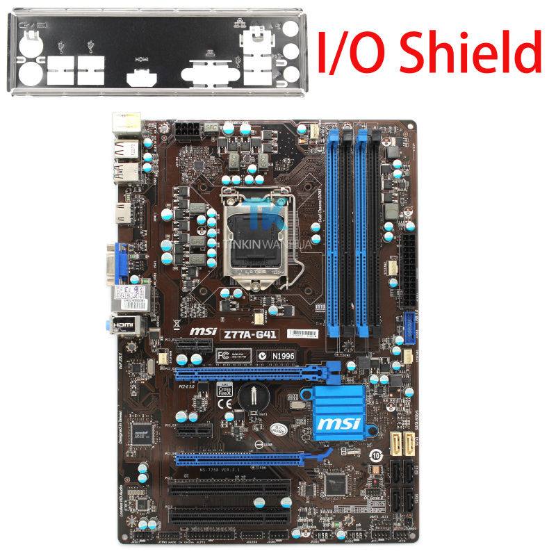 MSI Z77A-G41 Genuine Motherboard LGA 1155 DDR3 for i3 i5 i7 CPU