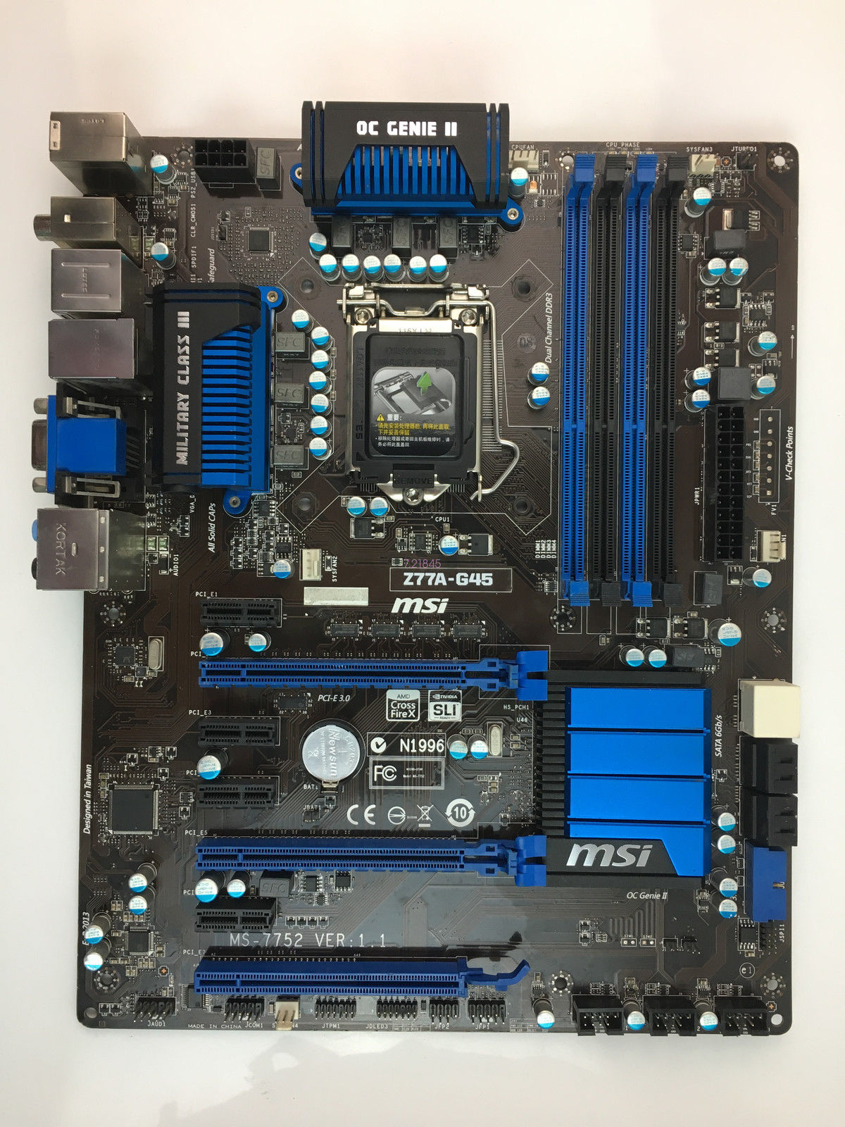 MSI MS-7752 Z77A-G45 Motherboard skt 1155 DDR3 Intel Z77