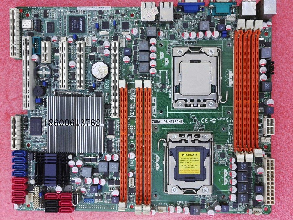 ASUS Z8NA-D6C motherboard1366 pin X58 dual Xeon server support X5650