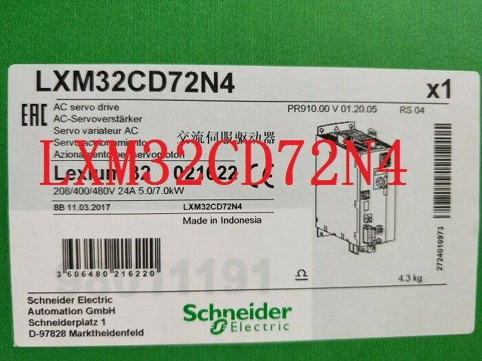 SCHNE LXM32CD72N4 New In Box 1PCS