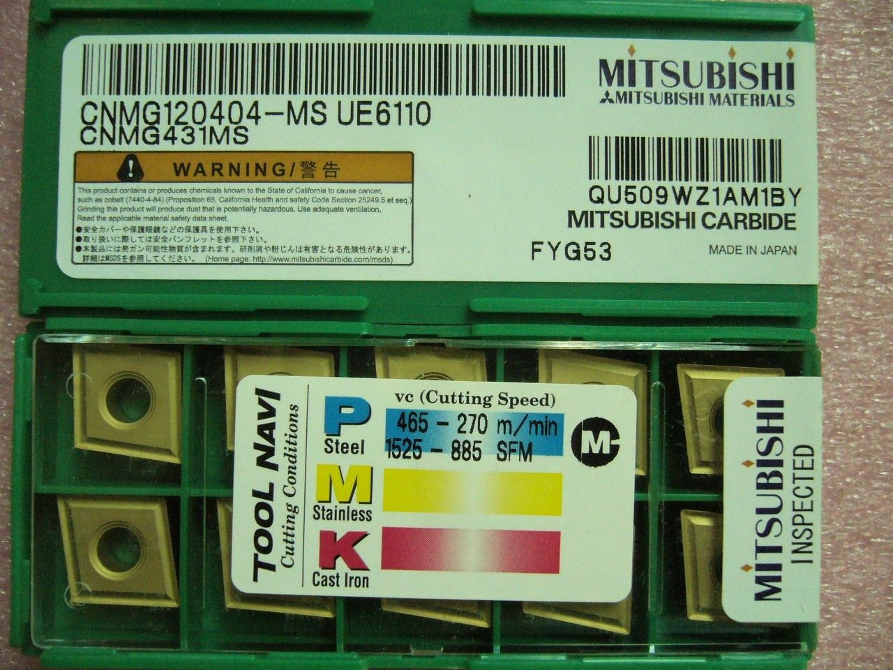 QTY 20x Mitsubishi CNMG431MS CNMG120404-MS UE6110 for steel