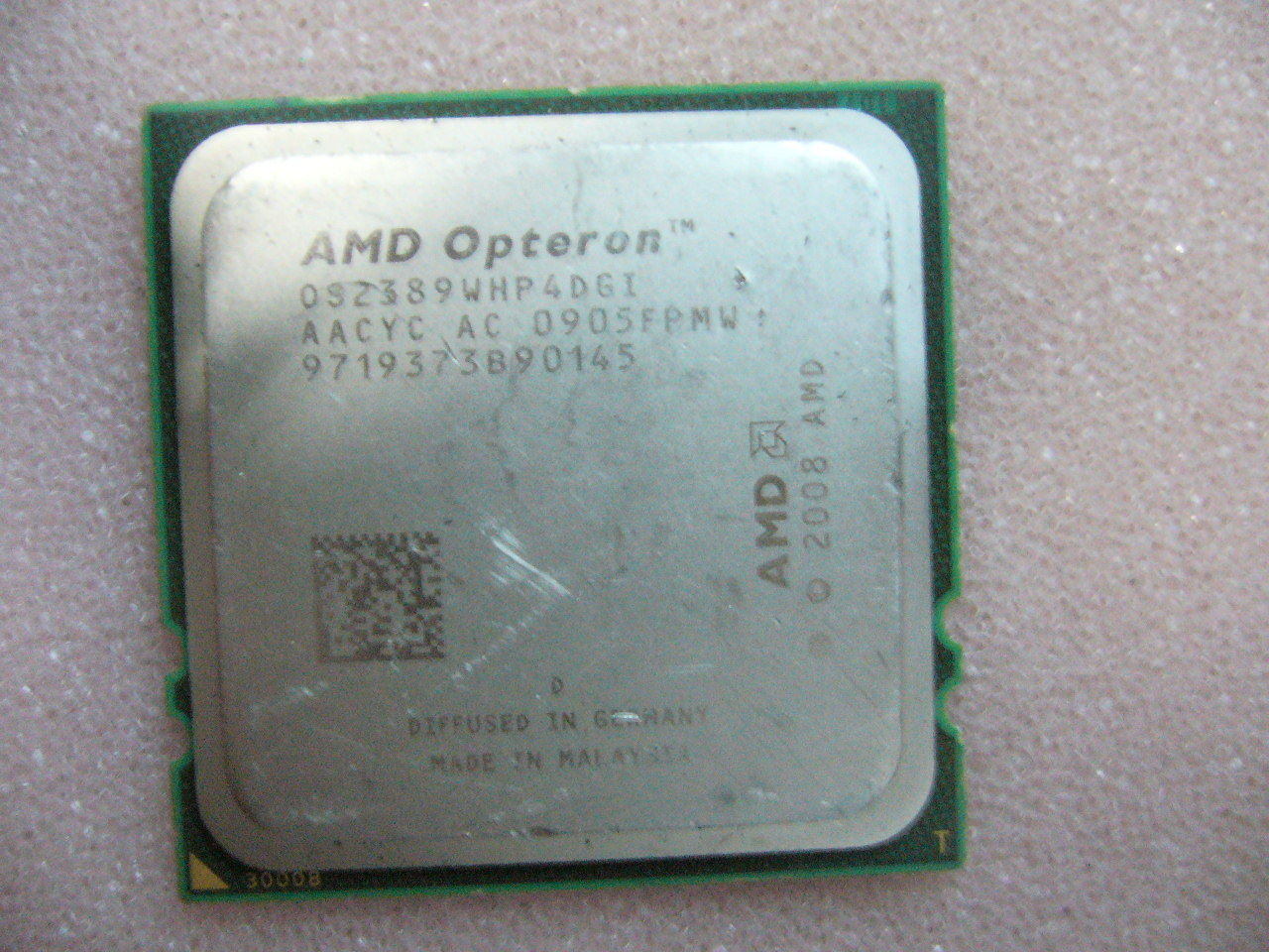 QTY 1x AMD Opteron 2389 2.9 GHz Quad-Core (OS2389WHP4DGI) CPU Socket F 1207