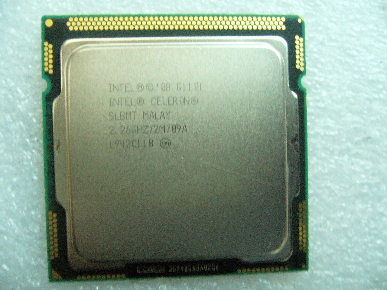 QTY 1x INTEL Celeron CPU G1101 2.26GHZ/2MB LGA1156 SLBMT