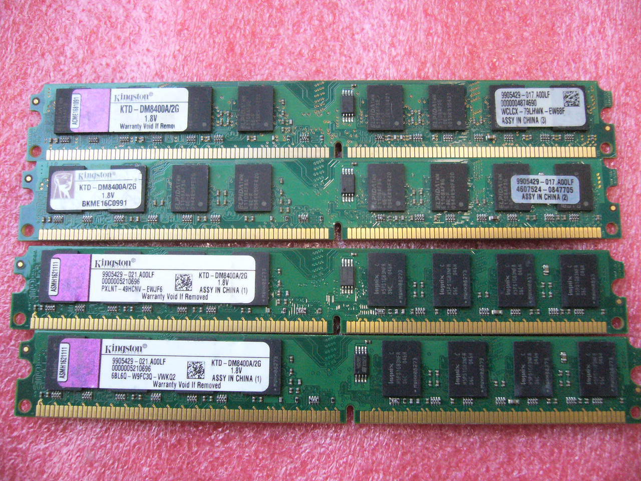 QTY 1x 2GB DDR2 533Mhz non-ECC desktop memory Kingston KTD-DM8400A/2G