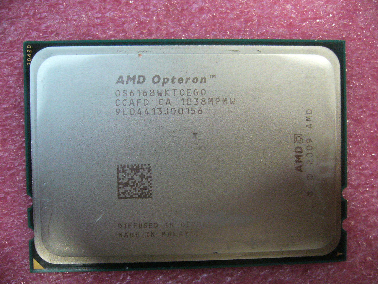 QTY 1x AMD Opteron 6168 1.9 GHz Twelve Core (OS6168WKTCEGO) CPU Tested G34