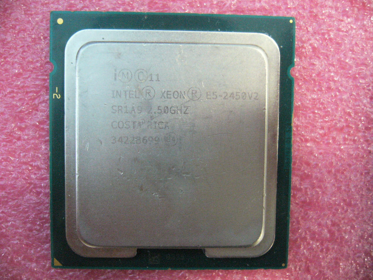 QTY 1x Intel CPU E5-2450 V2 8-Cores 2.5Ghz LGA1356 SR1A9