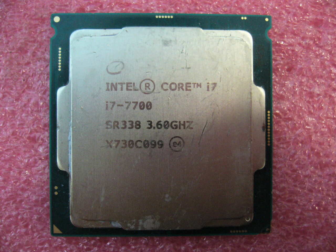 QTY 1x Intel CPU i7-7700 Quad-Cores 3.6Ghz 8MB LGA1151 SR338 bent corner