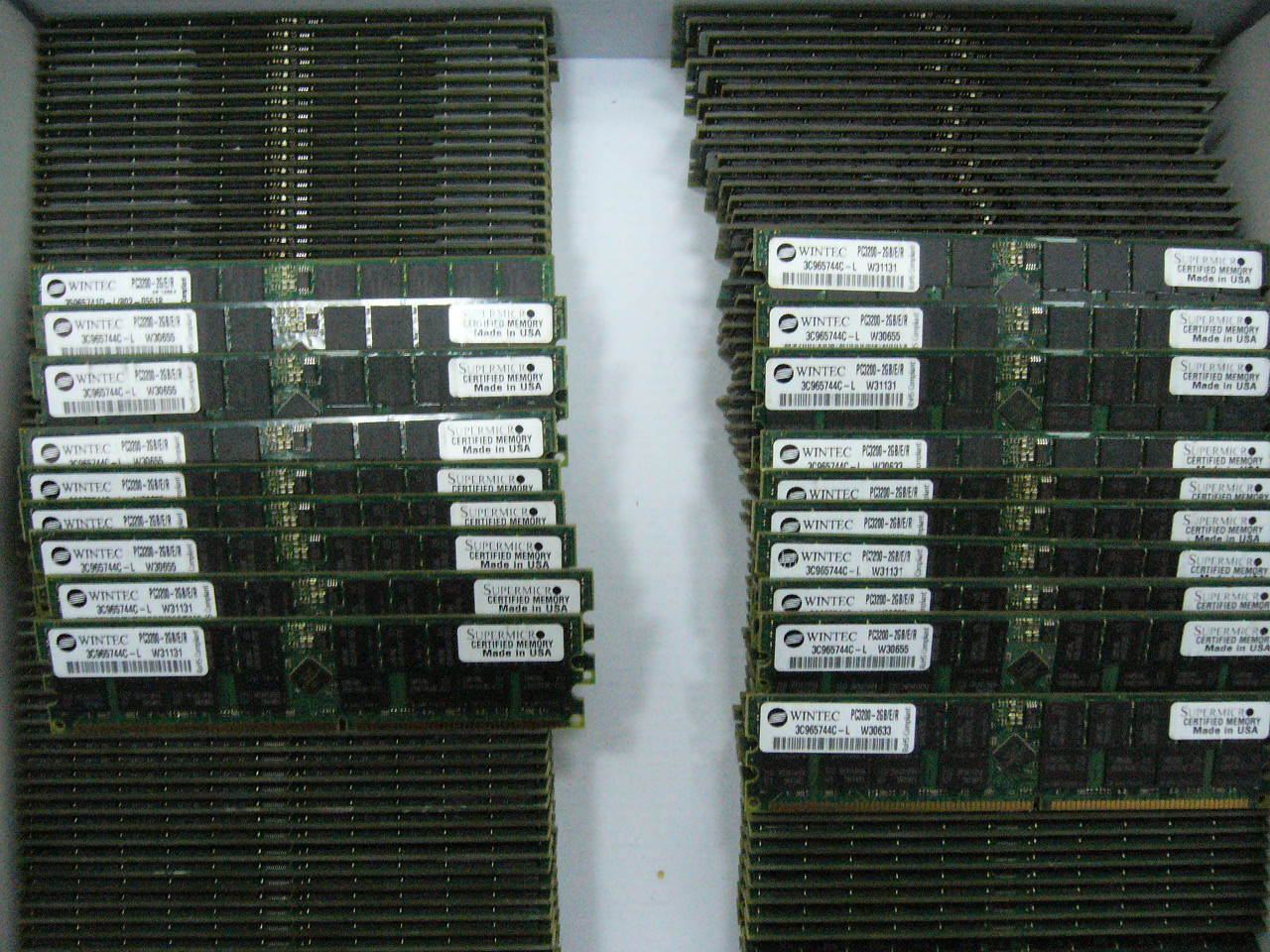 Lot 4x 2GB DDR PC3200 ECC Registered Server memory Supermicro Certified