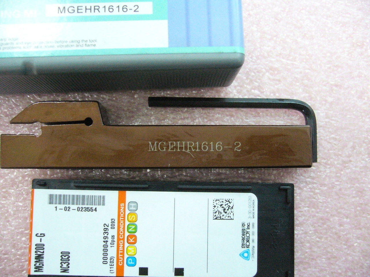 Grooving Parting 2mm Korloy inserts MGMN200-G NC3030 with Toolholder MGEHR1616-2