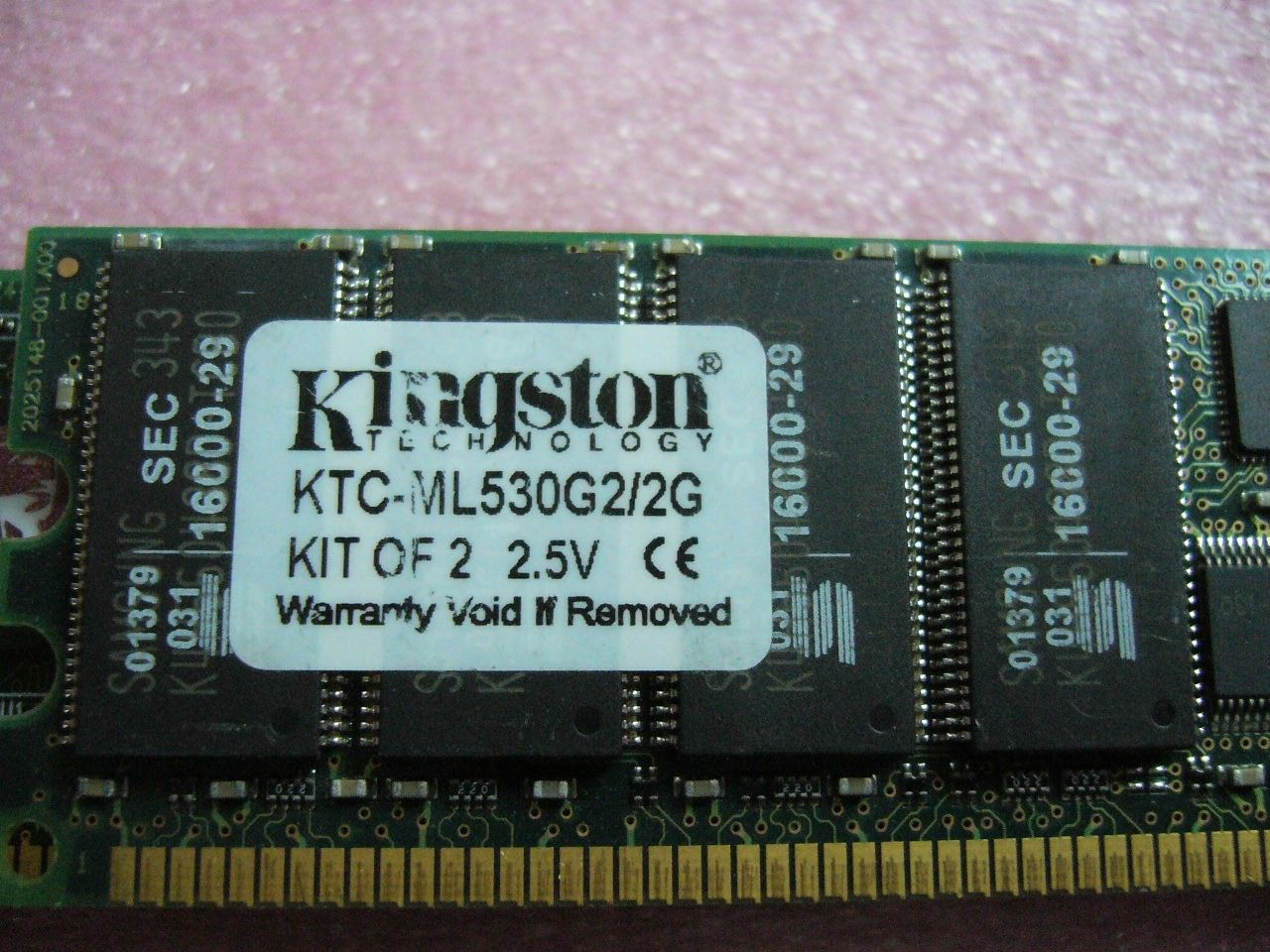 QTY 1x 1GB DDR PC-2100R 266Mhz ECC Registered Server memory Kingston KTC-ML530G2