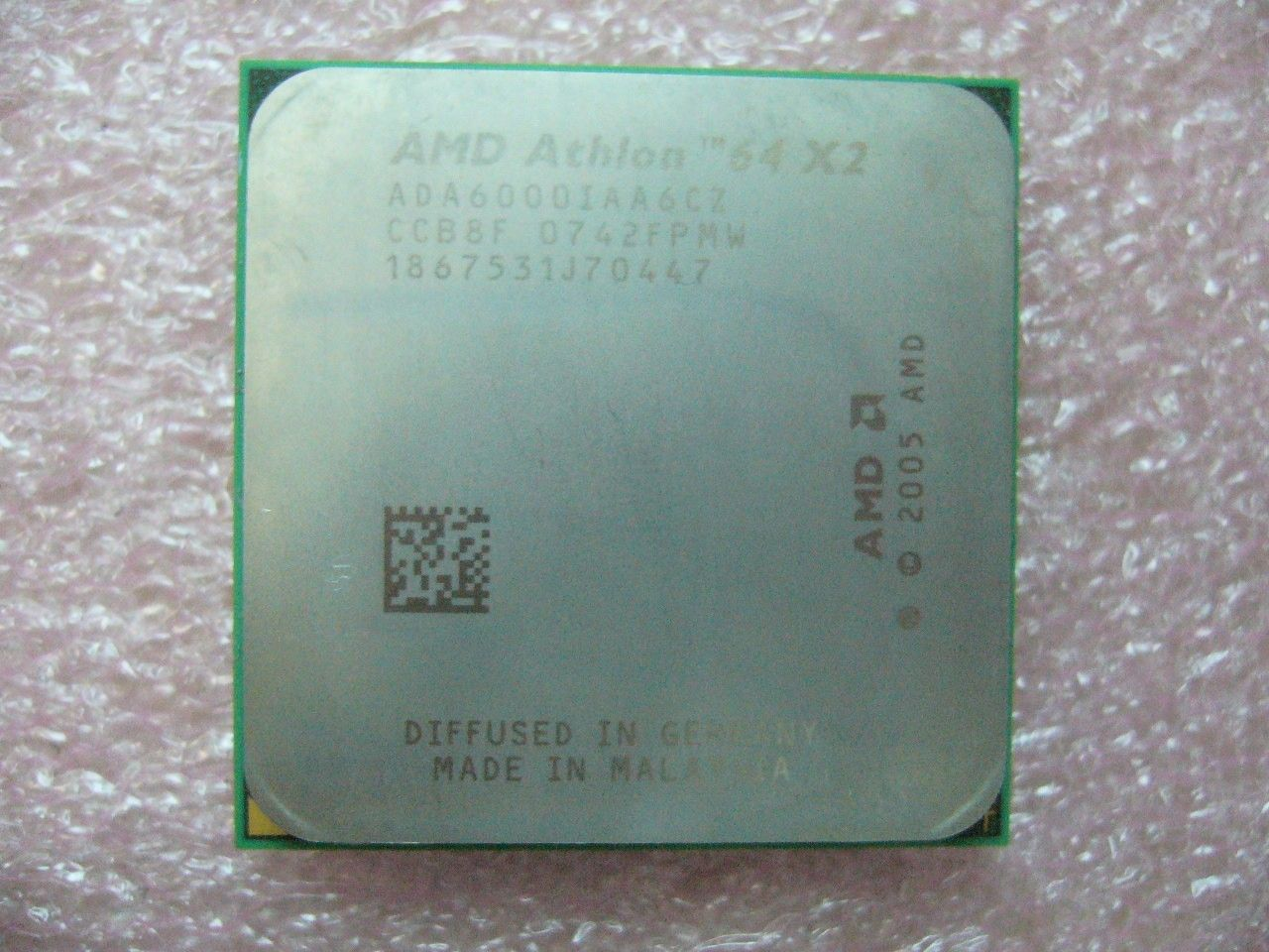 QTY 1x AMD Athlon 64 X2 6000+ 3 GHz Dual-Core (ADA6000IAA6CZ) CPU AM2 940-Pin