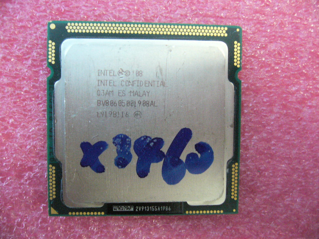 QTY 1x INTEL Xeon ES CPU X3460 2.80GHZ/8MB LGA1156 Q3AM BV80605001908AL