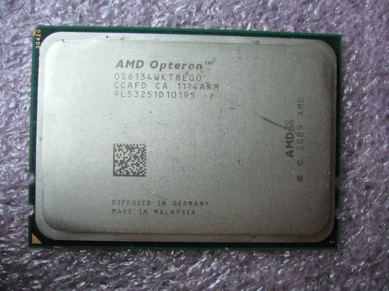 QTY 1x AMD Opteron 6134 2.3 GHz Eight Core (OS6134WKT8EGO) CPU Tested G34