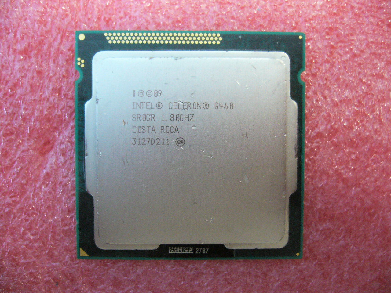 QTY 1x INTEL Celeron CPU G460 1.8GHZ 1.5MB LGA1155 SR0GR