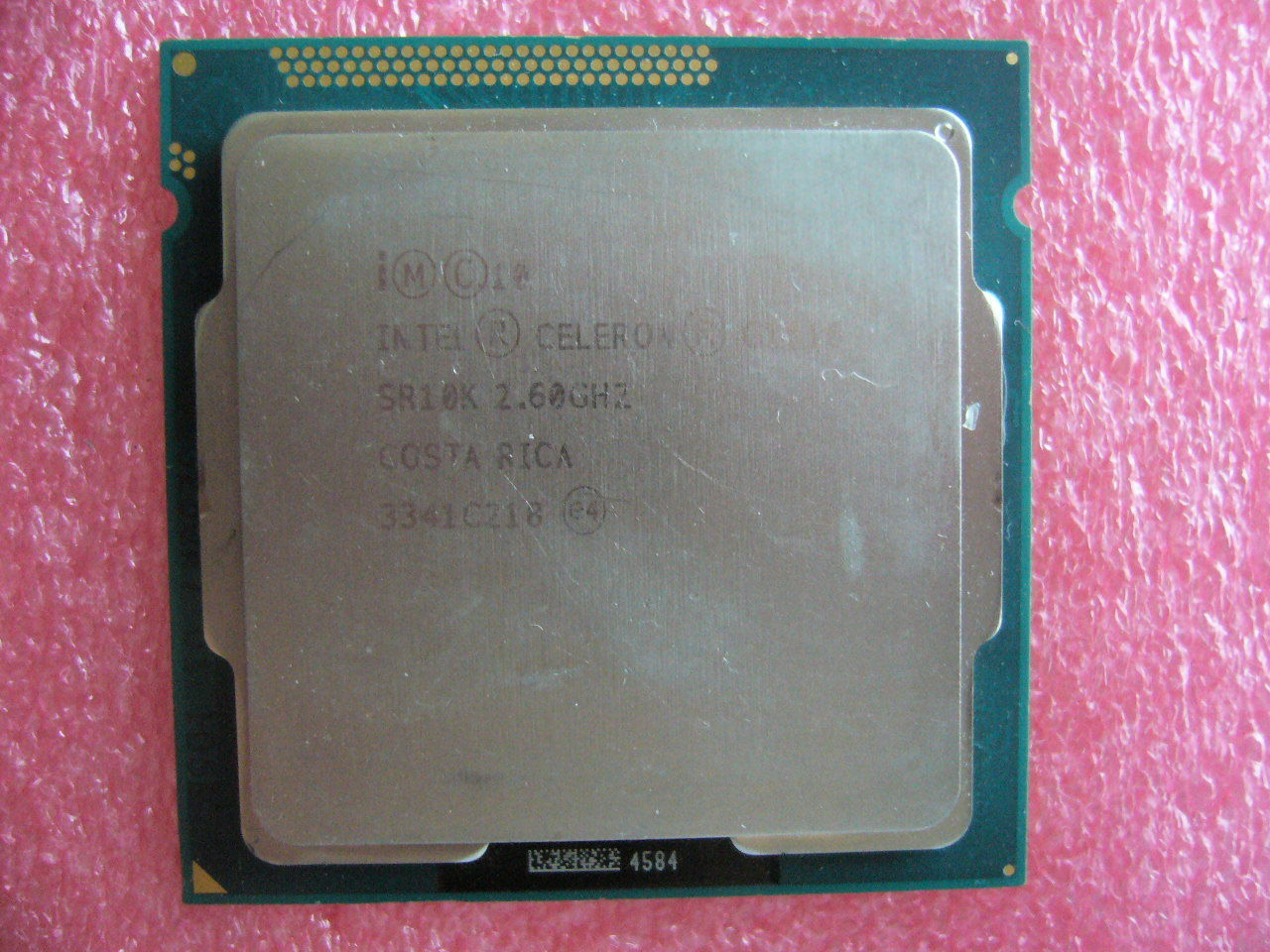 QTY 1x INTEL Celeron CPU G1610 2.6GHZ/2MB LGA1155 SR10K